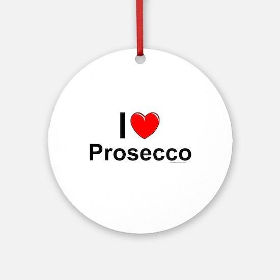 Prosecco Round Ornament