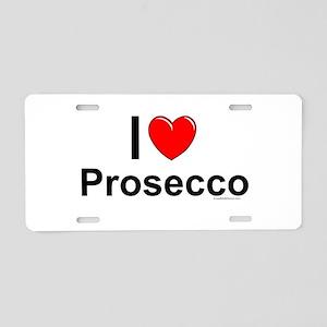 Prosecco Aluminum License Plate