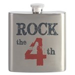 Rock the 4th (word mug) Flask