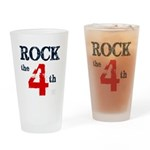 Rock the 4th (word mug) Drinking Glass