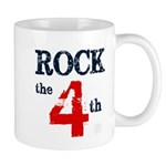Rock the 4th (word mug) Mugs
