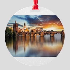 Charles Bridge Prague Round Ornament