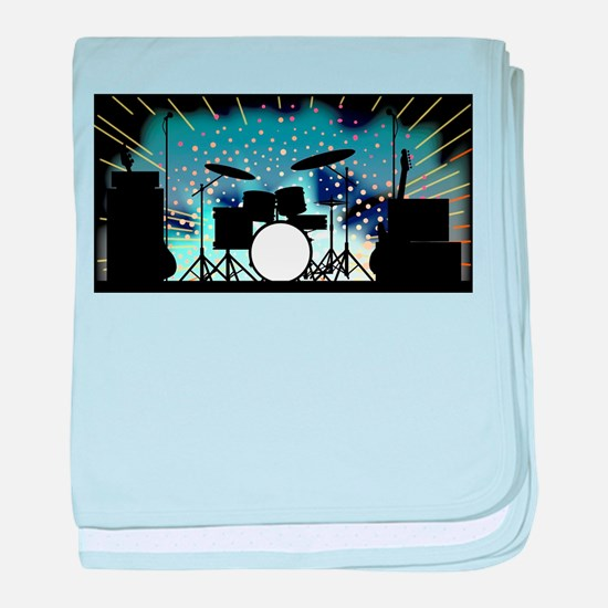 Bright Rock Band Stage baby blanket