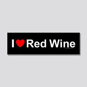 Red Wine Car Magnet 10 x 3