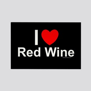 Red Wine Rectangle Magnet