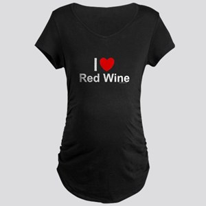 Red Wine Maternity Dark T-Shirt
