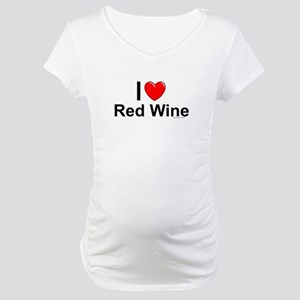 Red Wine Maternity T-Shirt