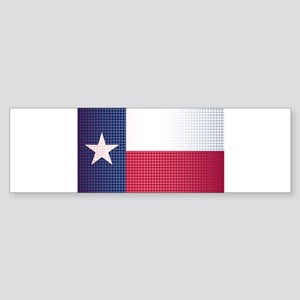 Texas State Doted Flag Bumper Sticker