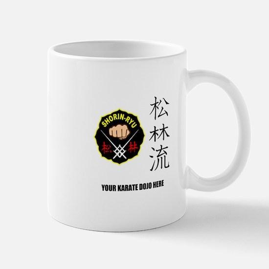 Personalized Shorin Ryu Patch & Kanji Mug