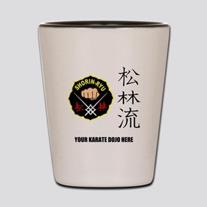 Personalized Shorin Ryu Patch & Kanji Shot Glass