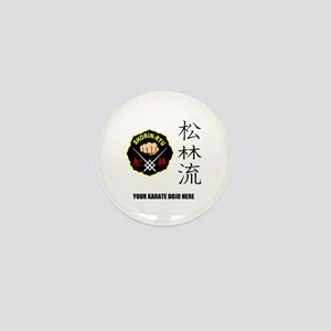 Personalized Shorin Ryu Patch & Kanji Mini Button