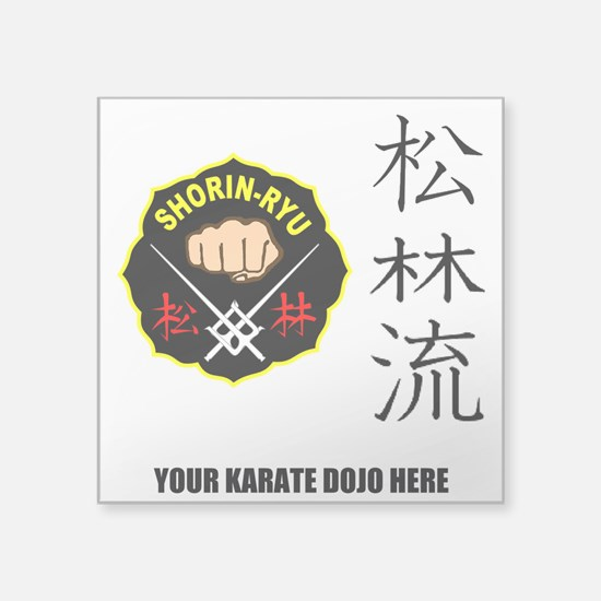 "Personalized Shorin Ryu Pat Square Sticker 3"" x 3"""