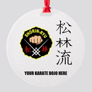Personalized Shorin Ryu Patch & Kan Round Ornament