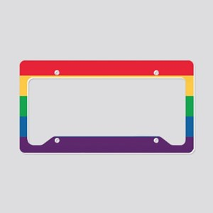 Rainbow Flag Pride License Plate Holder