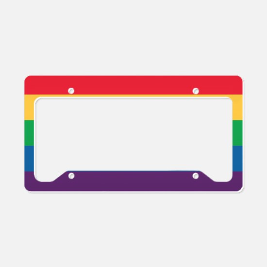 Rainbow Flag Pride License Plate Holder