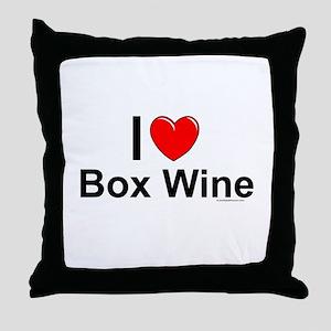 Box Wine Throw Pillow