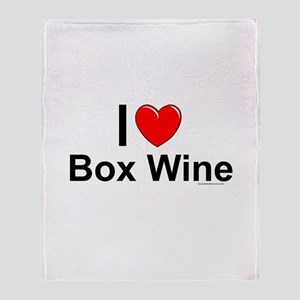 Box Wine Throw Blanket
