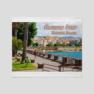 Alghero Italy Sardinia Island Travel Throw Blanket