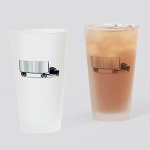 Truck Tractor Unit And Trailer Drinking Glass
