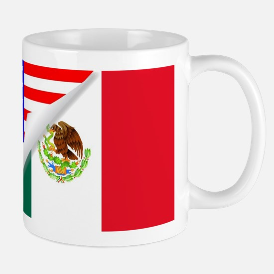 United States and Mexico Flags Combined Mugs