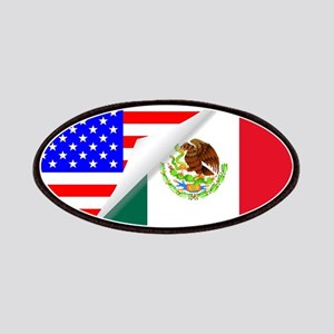 United States and Mexico Flags Combined Patch