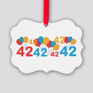 42 years old - 42nd Birthday Ornament