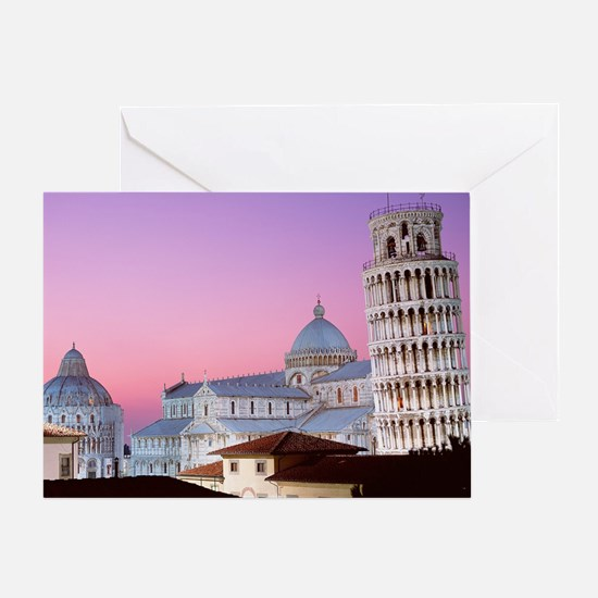Unique Leaning Greeting Card