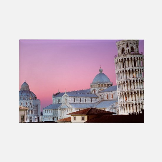 Cute Leaning tower pisa Rectangle Magnet