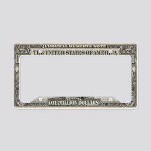 Pit Bull Money License Plate Holder