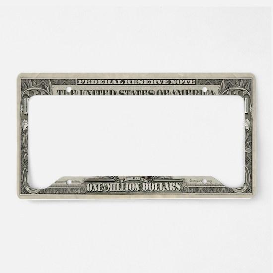 Pit Bull Money License Plate Holder