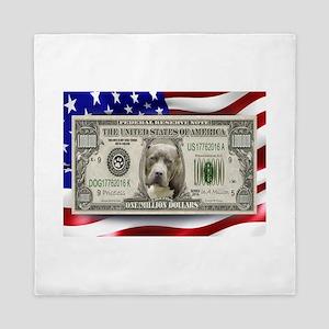 Pitbull BULLY Dog USA Bill Queen Duvet