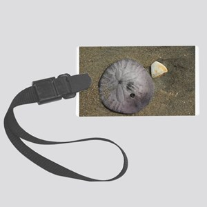 Sand Dollar and Shell Luggage Tag