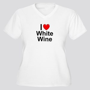 White Wine Women's Plus Size V-Neck T-Shirt