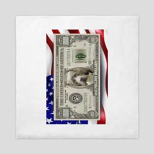Pit Bull Flag USA million bill Queen Duvet