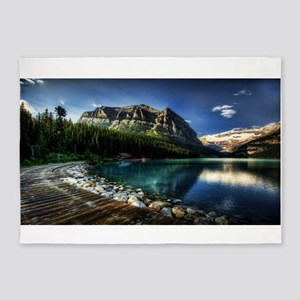 Lake Louise Alberta Canada 5'x7'Area Rug