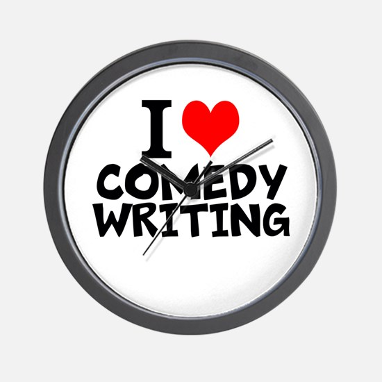 I Love Comedy Writing Wall Clock