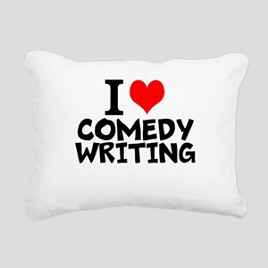 I Love Comedy Writing Rectangular Canvas Pillow