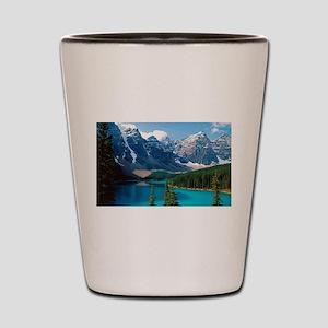 Moraine Lake Banff National Park Canada Shot Glass