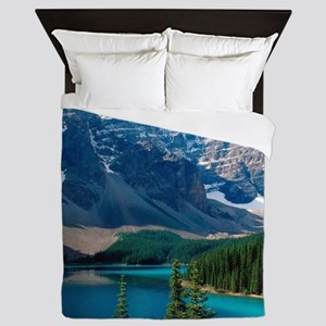 Moraine Lake Banff National Park Canad Queen Duvet