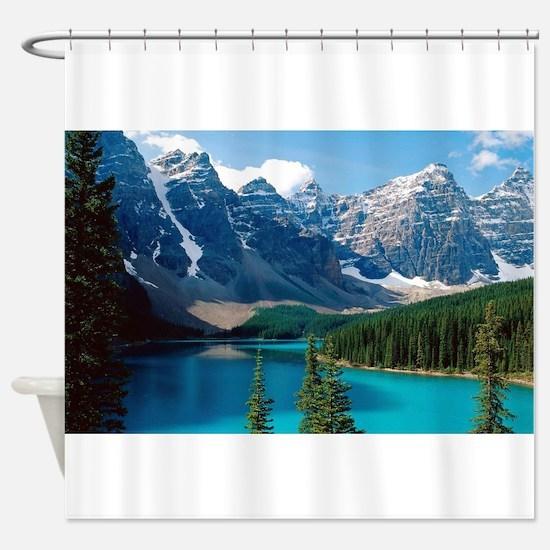 Moraine Lake Banff National Park Ca Shower Curtain