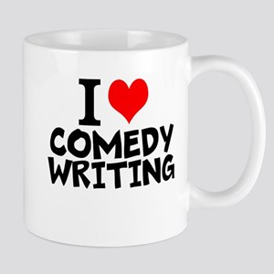I Love Comedy Writing Mugs