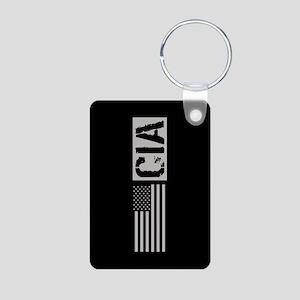 CIA: CIA (Black Flag) Aluminum Photo Keychain