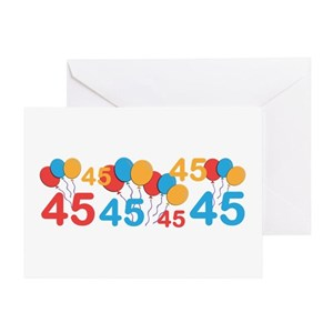 45 Years Old Greeting Cards