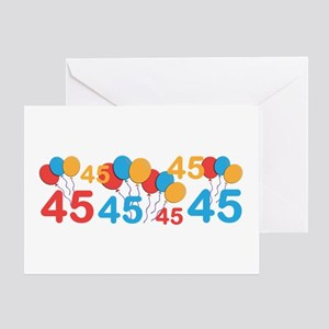 45 Yrs Old Greeting Cards