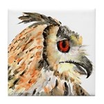Horned Owl Tile Coaster