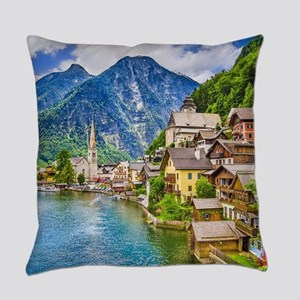 Austria Hallstatt Everyday Pillow