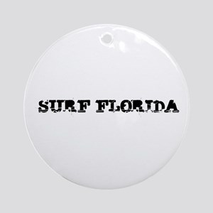 Surf Florida Round Christmas Ornament