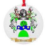 Watson (Scottish) Round Ornament