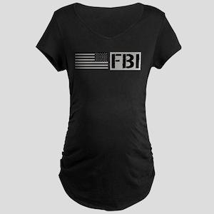 FBI: FBI (Black Flag) Maternity Dark T-Shirt
