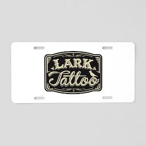 Lark Tattoo - design 3 Aluminum License Plate